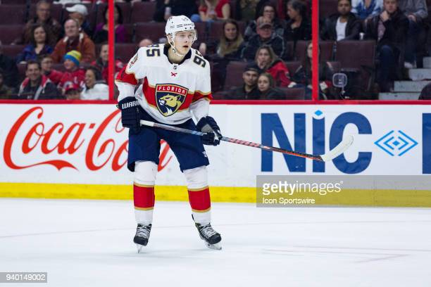 Florida Panthers Center Henrik Borgstrom tracks the play during third period National Hockey League action between the Florida Panthers and Ottawa...