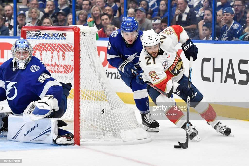 NHL: OCT 06 Panthers at Lightning : News Photo