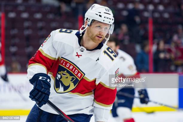 Florida Panthers Defenceman Mike Matheson skates during warm-up before National Hockey League action between the Florida Panthers and Ottawa Senators...