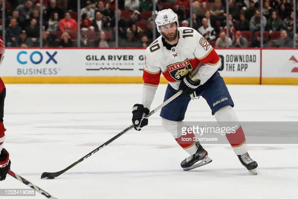 Florida Panthers right wing Brett Connolly looks to pass during the NHL hockey game between the Florida Panthers and the Arizona Coyotes on February...
