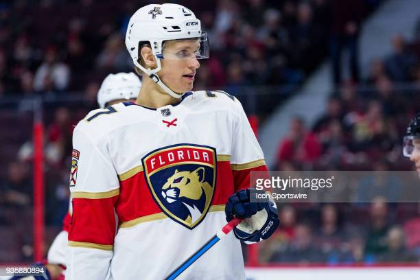 Florida Panthers Right Wing Nick Bjugstad after a whistle during second period National Hockey League action between the Florida Panthers and Ottawa...
