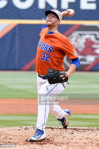 Florida pitcher Logan Shore during the Texas AM 125 win over Florida in the SEC Championship Game at Hoover Metropolitan Stadium in Hoover AL