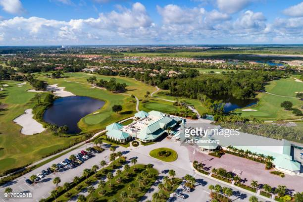 Florida Port St Lucie West Aerial of PGA Golf Club and Clubhouse
