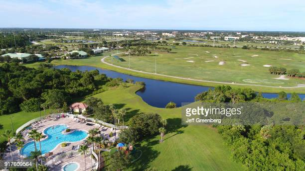 Florida Port St Lucie West Aerial of Sheraton PGA Vacation Resort
