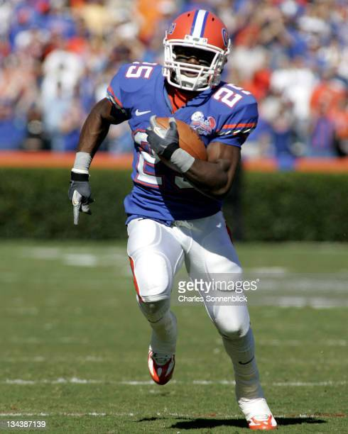 Florida punt returner Brandon James returns the punt for a touchdown against Western Carolina at Ben Hill Griffin Stadium in Gainesville Florida on...