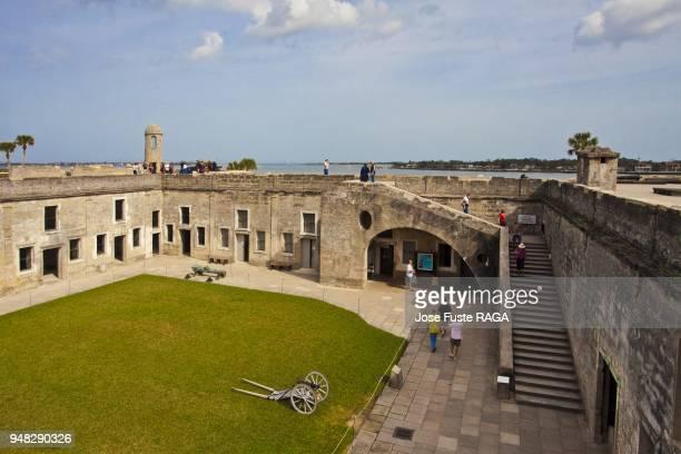 USA Florida San Agustin City Castillo de San Marcos National Monument Fort San Agustin the Courtyard