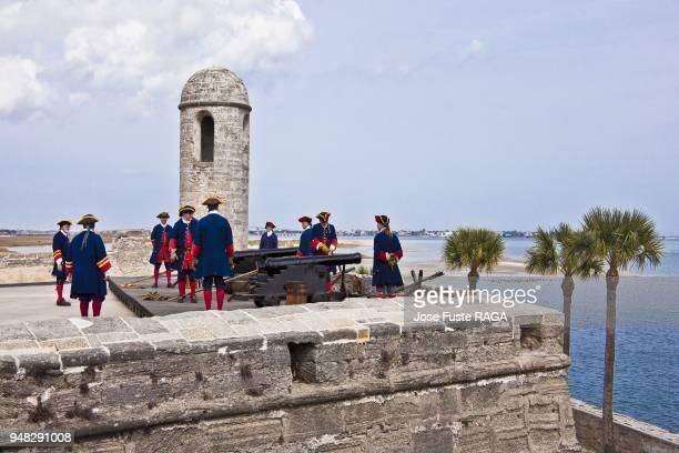 USA Florida San Agustin City Castillo de San Marcos National Monument Fort San Agustin Artillery performance