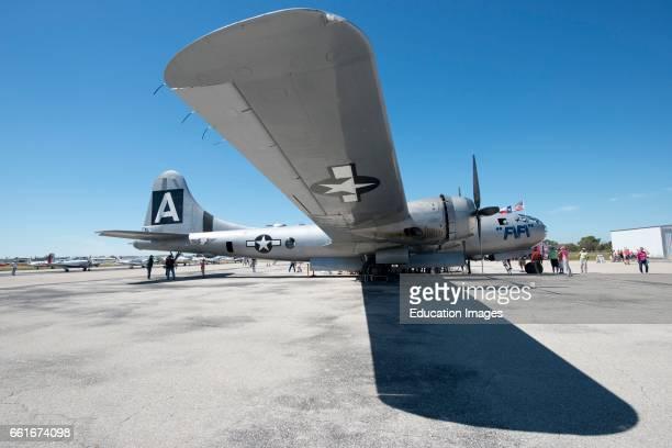 Florida Sarasota CAF Air Power History Tour FIFI Last Airworthy Boeing B29 Heavy Bomber