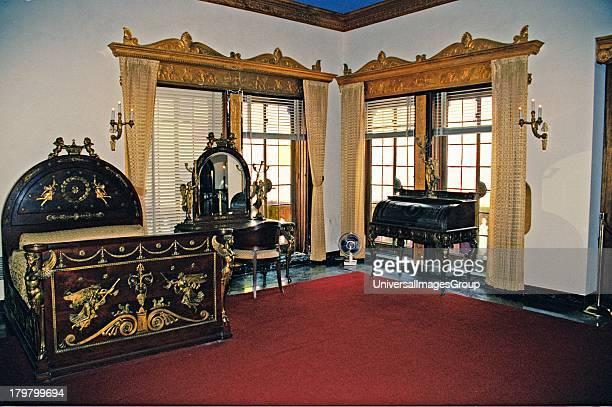 Florida Sarasota John and Mabel Ringling Mansion Ca d ZanJohn Ringlings Bedroom