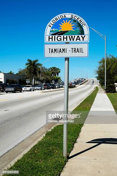 florida scenic highway sign - bradenton stock pictures, royalty-free photos & images