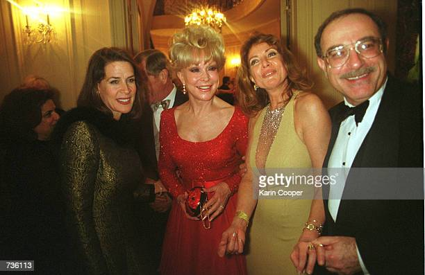 Florida Secretary of State Katherine Harris left laughs with actress Barbara Eden and Ambassador Yvonne A Baki of Ecuador during a party at the...