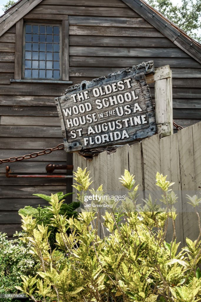 Florida, St Augustine Beach, Oldest Wood School House in the