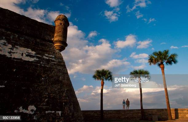 Florida St Augustine Castillo de San Marcos c1672 coquina walls withstood cannon fire
