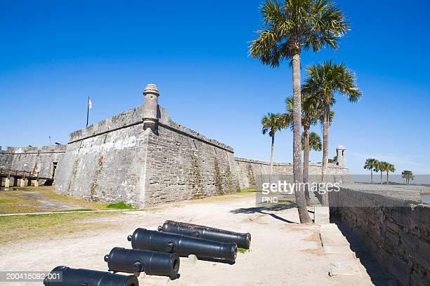 usa, florida, st. augustine, castillo de san marcos national monument - castillo de san marcos stock photos and pictures