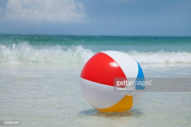 USA, Florida, St. Petersburg, beach ball floating on water