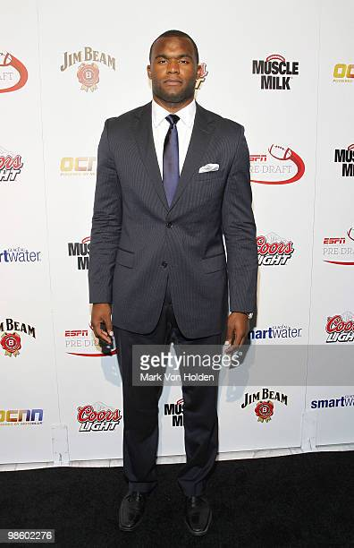 Florida State football player Myron Rolle attends ESPN the Magazine's 7th Annual PreDraft Party at Espace on April 21 2010 in New York City