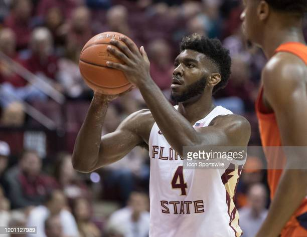 Florida State forward Patrick Williams shoots a freethrow during the game between the Syracuse Orange and the Florida State Seminoles on February 15...