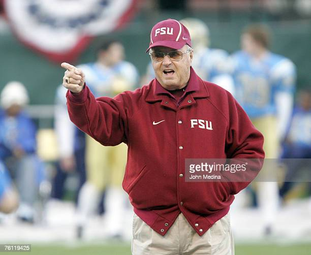 Florida State head coach Bobby Bowden on the field before the 44-27 Florida State University defeat of UCLA at the 2006 Emerald Bowl played at AT & T...