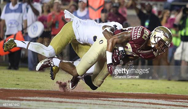 Florida State receiver Rashad Green scores a touchdown in the third quarter against Notre Dame at Doak Campbell Stadium in Tallahassee Fla on...