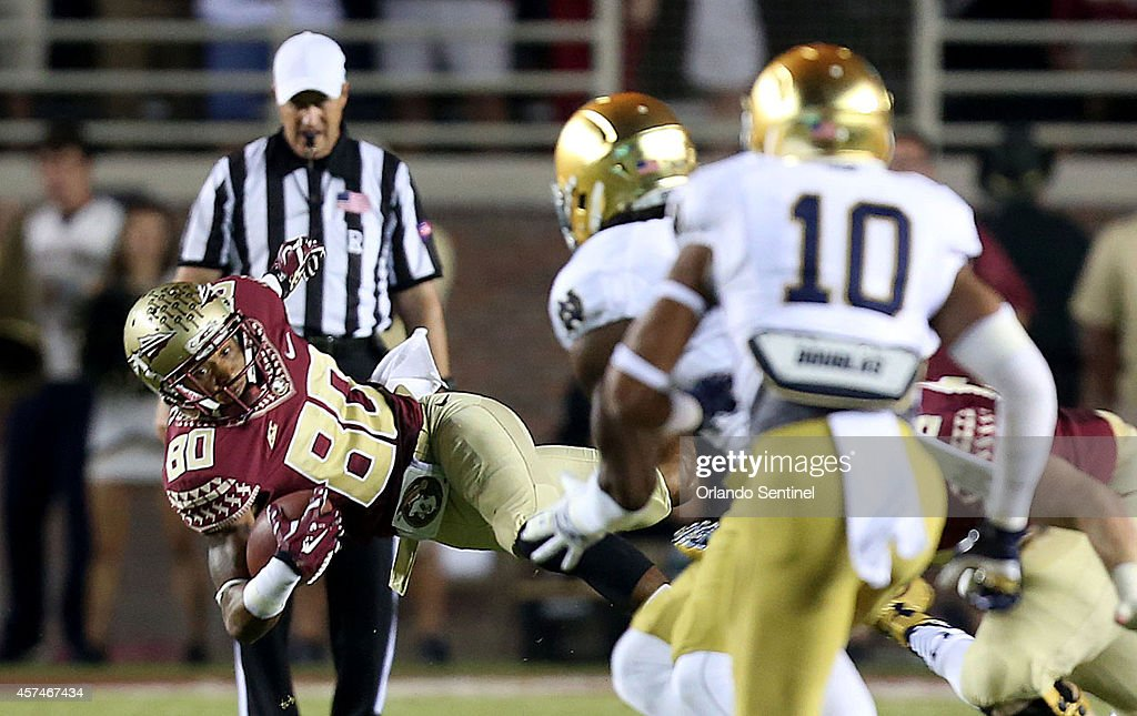 Notre Dame at Florida State : News Photo