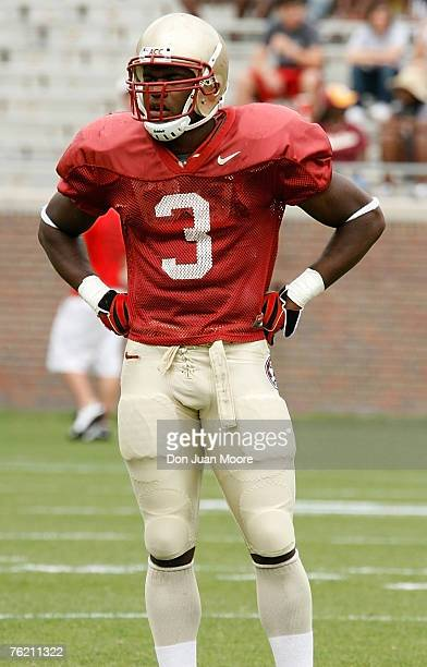 Florida State S Myron Rolle during FSU Spring Game on April 14 2007 in Tallahassee Florida