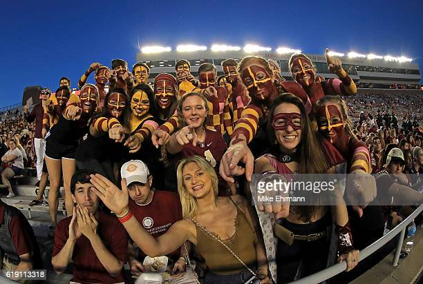 Florida State Seminoles fans cheer during a game against the Clemson Tigers at Doak Campbell Stadium on October 29, 2016 in Tallahassee, Florida.