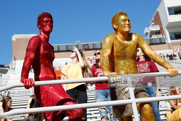 Florida State Seminoles fans react in the fourth quarter of the game against the Clemson Tigers at Doak Campbell Stadium on October 27 2018 in...