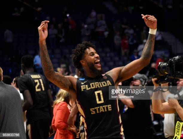 Florida State Seminoles forward Phil Cofer waves to the crowd during the second half of the NCAA Division I Men's Championship Second Round game...