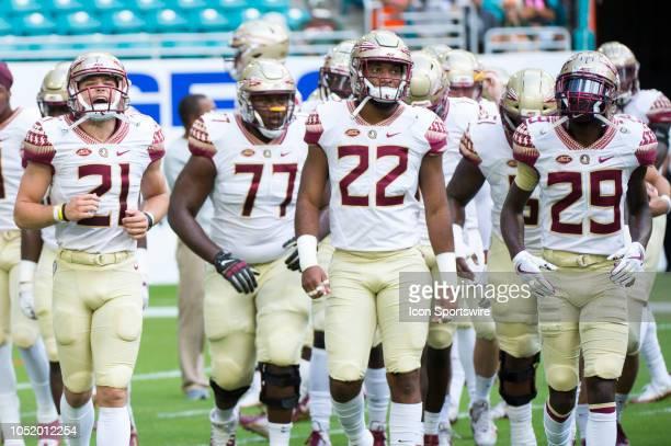 Florida State Seminoles Punter Logan Tyler Florida State Seminoles Offensive Lineman Christian Armstrong Florida State Seminoles Linebacker Adonis...