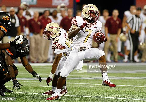 Florida State Seminoles running back Mario Pender during a NCAA football game between the Florida State Seminoles and the Oklahoma State Cowboys in...