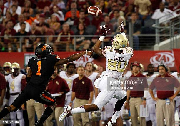 Florida State Seminoles wide receiver Rashad Greene during a NCAA football game between the Florida State Seminoles and the Oklahoma State Cowboys in...