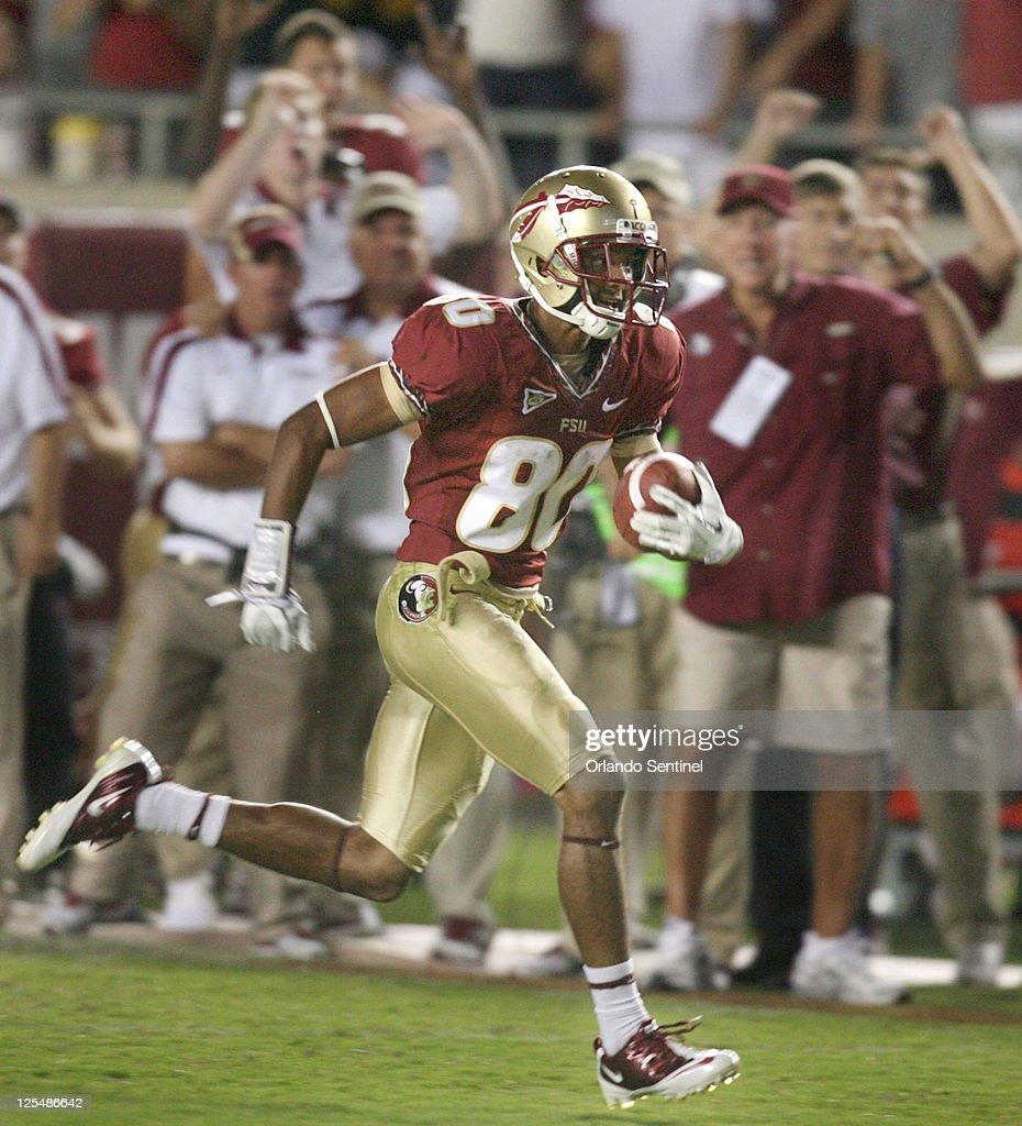 Oklahoma at Florida State University football : News Photo