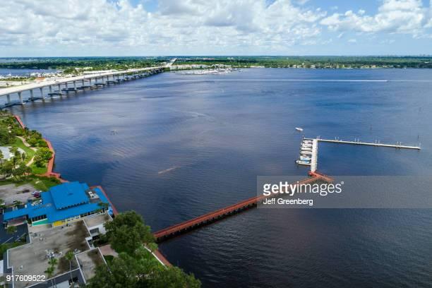 Florida, Stuart, St. Lucie River, Boardwalk Run and Highway.