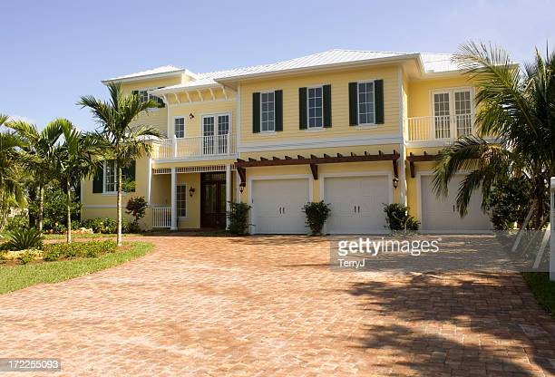 florida style - florida landscaping stock pictures, royalty-free photos & images