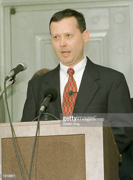 Florida Supreme Court spokesman Craig Waters reads a statement from the court December 8 2000 in Tallahassee Florida The justices ruled that a manual...