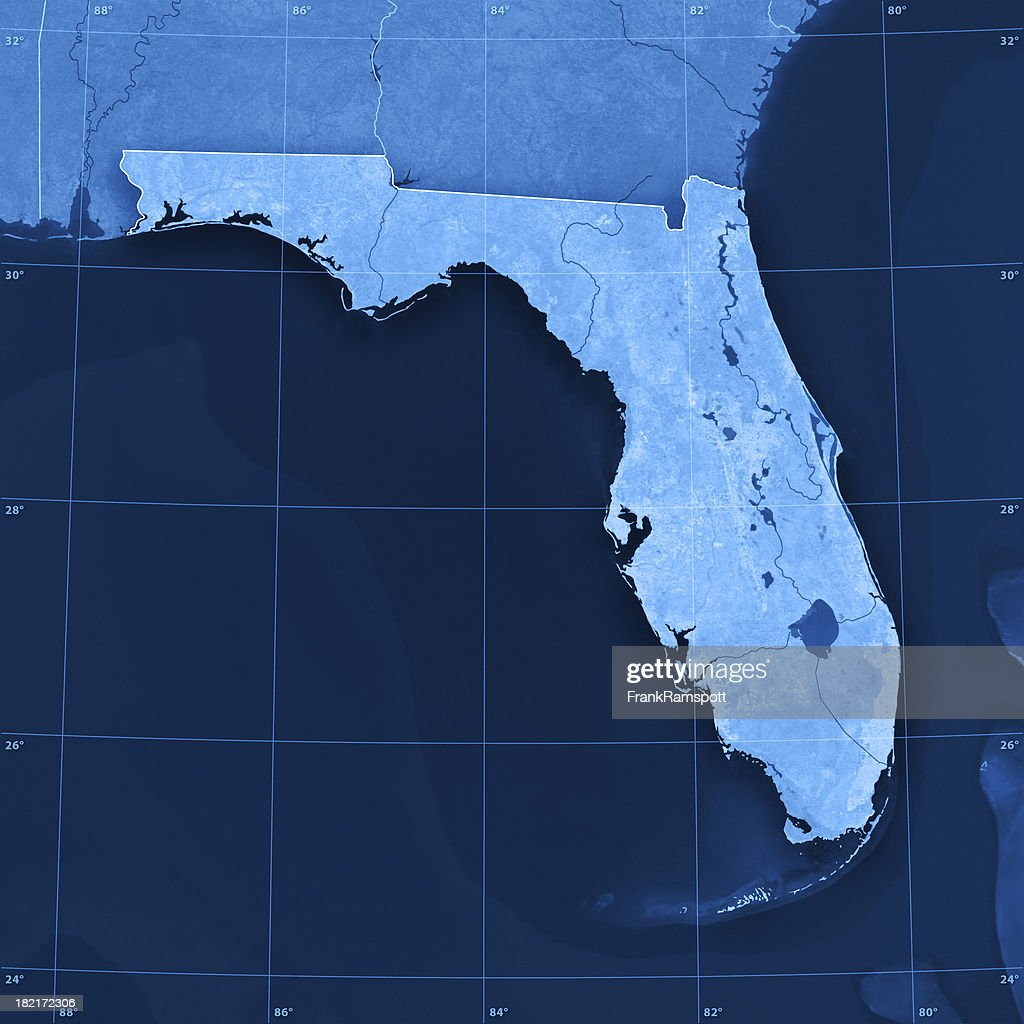 Topographic Map Of Florida.Florida Topographic Map Stock Photo Getty Images