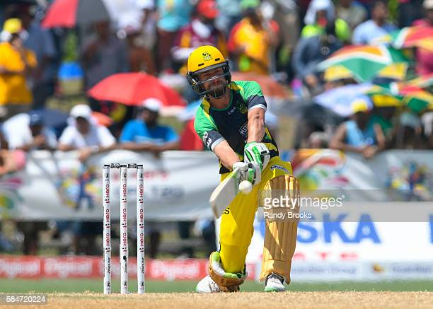 Florida United States 30 July 2016 Alex Ross of Jamaica Tallawah hits 4 during Match 27 of the Hero Caribbean Premier League match between St Lucia...