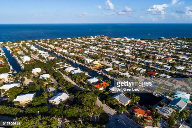 Florida Upper Key Largo Aerial of Homes and residences