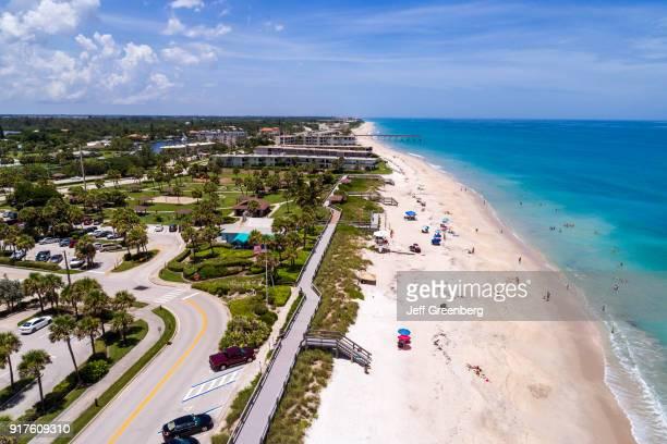 Florida, Vero Beach, Jaycee Park, Ocean Drive Aerial.