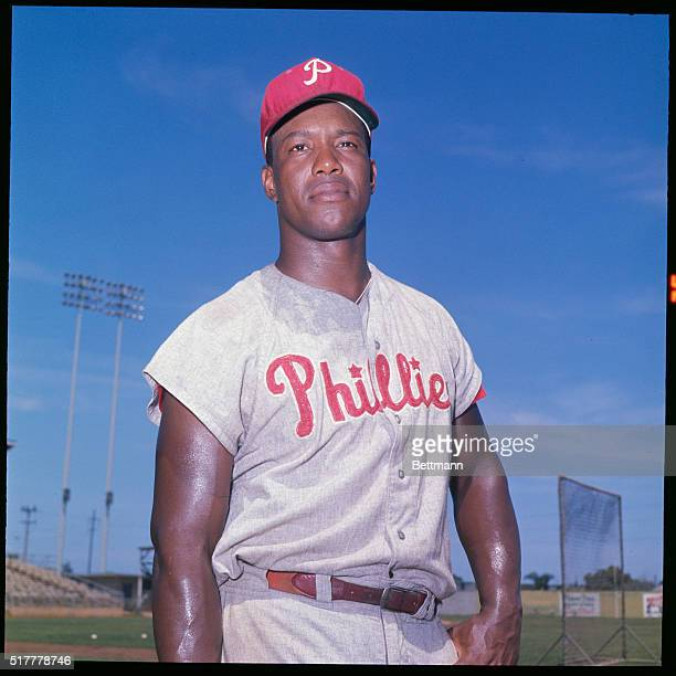 Wes Covington of the Phillies is shown posing here during spring training