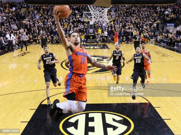 Florida's Chris Chiozza scores the gamewinning layup off a turnover in the final seconds against Missouri on January 6 at Mizzou Arena in Columbia Mo