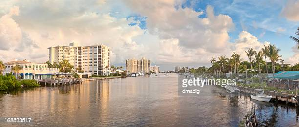 Florida's Intercoastal Water Way with Spectacular Clouds and Reflections