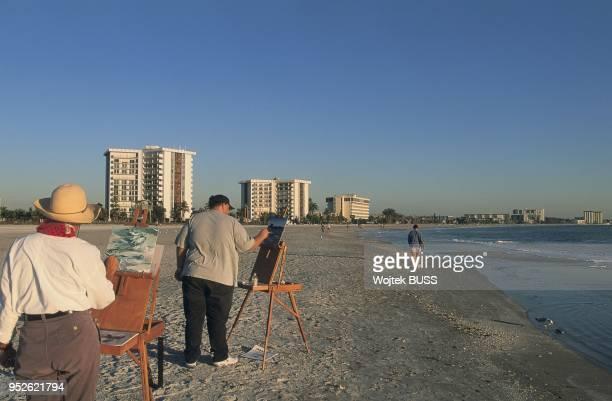 Floride, Sarasota, West Coast, Longboat Key, Beach.
