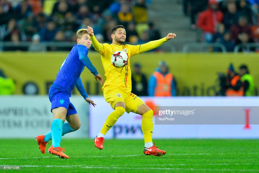 Florin Andone (Rom) during the International Friendly match between Romania and Netherlands at National Arena Stadium in Bucharest, Romania, on 14 november 2017.