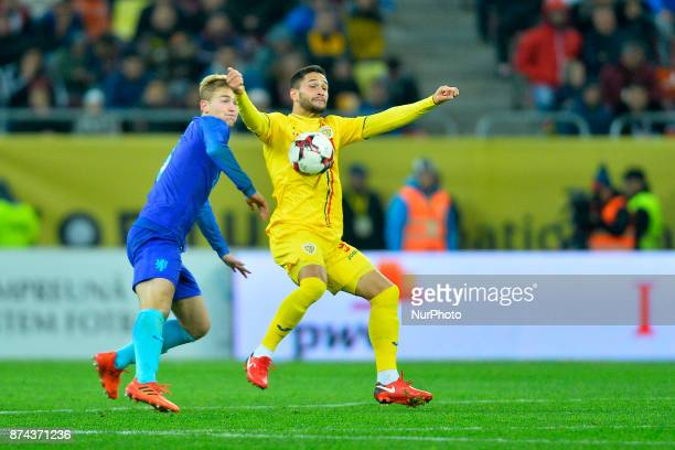 Florin Andone during the International Friendly match between Romania and Netherlands at National Arena Stadium in Bucharest Romania on 14 november...