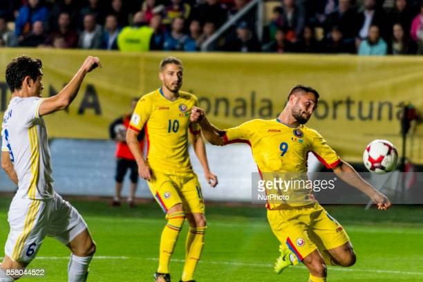 Florin Andone during the World Cup qualifying campaign 2018 game between Romania and Kazakhstan at Ilie Oana Stadium Ploiesti Romania on 5 October...