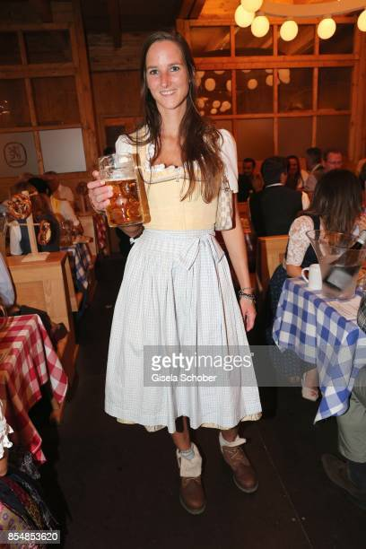Florinda Bogner, daughter of Willy Bogner during the Oktoberfest at Theresienwiese on September 27, 2017 in Munich, Germany.