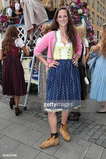 Florinda Bogner during Oktoberfest Opening, Perusastrasse Start to the Oktoberfest on September 20, 2014 in Munich, Germany.