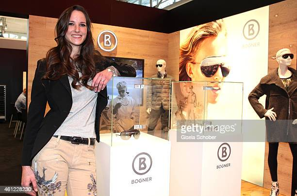 Florinda Bogner during the Rodenstock & Bogner press conference at Messe Muenchen on January 9, 2015 in Munich, Germany.