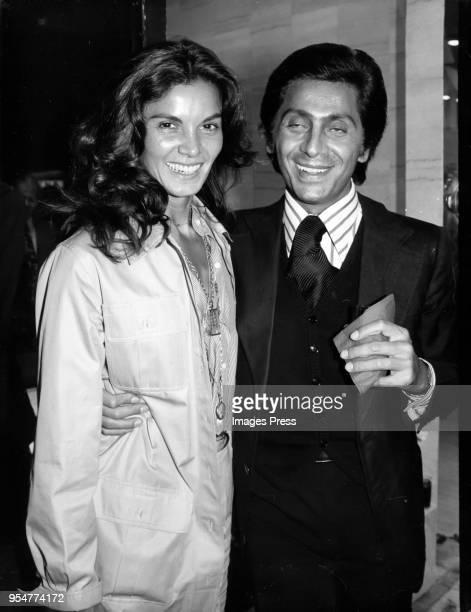 Florinda Bolkan and Valentino at Valentino's boutique store opening circa 1975 in New York City.